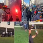 Students' anti-LGBT rally in Florida sees them stomp on Pride flags and hurl abuse, meanwhile a 'homophobic and racist' Nazi march in Madrid.
