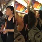 Viral videos: Anti-vaxxer rips down LGBT+ dating ads on NYC subway