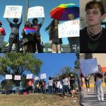 High school students stage walkout and demand action after gay classmate 'bullied for months and assaulted'